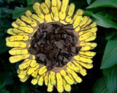 Handprint Sunflowers     Summer