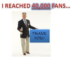 Dave says....WOW I'm so thankful to have 40,000 fans on Facebook now! Thank you all for following me and best of luck to everyone in the sweepstakes!