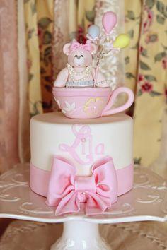 tea party birthday, baby shower cakes, teddi bear, teddy bears, 3rd birthday, party cakes, baby showers, birthday cakes, parti