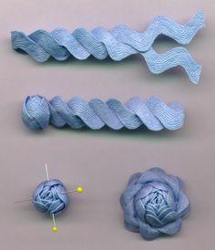 Nostalgic NeedleART: Rick Rack Roses (not cross stitch, but Idk where else to put it)