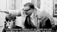 The funniest part was watching David Spade trying not to laugh when Chris Farley yelled VAN, DOWN BY THE RIVER!