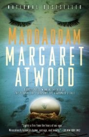 Love the cover of the new paperback edition of MaddAddam!