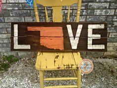 Oklahoma LOVE sign