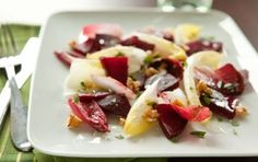 Endive and Beet Salad with Walnut-Tarragon Vinaigrette // This is Gluten free, Vegan, Vegetarian and you're going to love it!