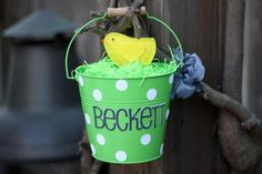 Personalized Pail Easter Basket Idea