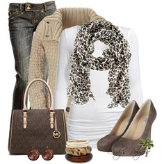 leopard scraf, sweater, leopard scarf, heel, fall outfits, jean outfits, animal prints, casual outfits, shoe