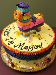 We love this Cinco De Mayo Pinata cake! www.ortega.com