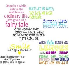 cute girly quotes collage