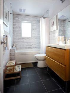 dark floor in bathroom - Google Search