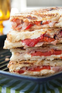 Roasted Red Pepper  Prosciutto Grilled Cheese