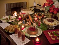 A festive Christmas celebration at the cozy Green Palm Inn in the Savannah Historic District. Appetizers, desserts, and a manger gingerbread house, plus wine and a warm fire at the top-rated historic inn. Photo (c) 2011 Green Palm Inn / Adam Kuehl
