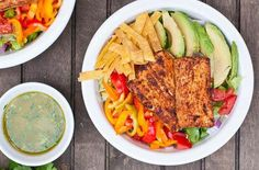 Fish Taco Salads Wit