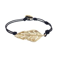 Chloe + Isabel Sculpted Feather Leather Wrap Bracelet $38.00