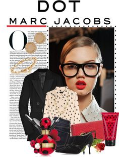 """#MARCtheDOT with Marc Jacobs Fragrance"" by gaylagirl ❤ liked on Polyvore"