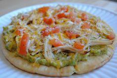 Avocado Pita Pizza  #food #recipe #healthy