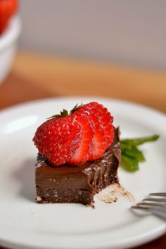 Raw Vegan Chocolate Frosted Brownies