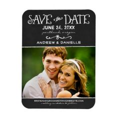save the date photo ideas | Wedding Save the Date Magnet | Chalkboard Love premiumfleximagnet