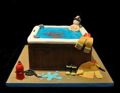 Fireman hot tub…  http://www.notyouraveragecake.com/fireman-hot-tub/#