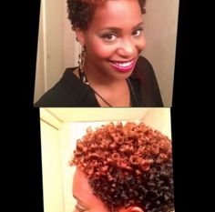 Two-toned short natural hairstyle