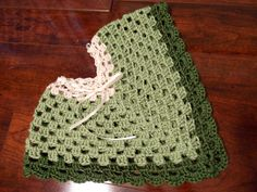 Free Baby Crochet Patterns | TADA! I replaced the crocheted tie with a ribbon. My favorite part ...