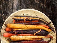 Harrisa maple roasted carrots