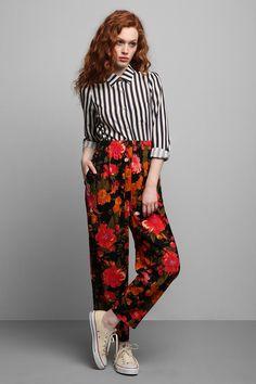 Vintage '90s Floral Pant #urbanoutfitters #vintage