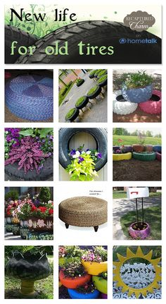 14 clever new uses for old tires - click through for full projects.