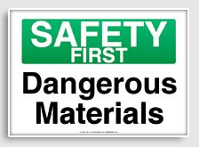 free printable safety first signage