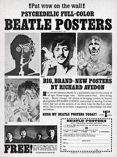 Beatle Posters by Richard Avedon (1968)