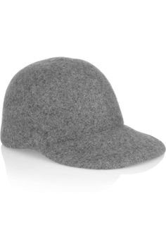 Looking to go luxe? Try Stella McCartney's gray wool baseball cap this Fall and Winter