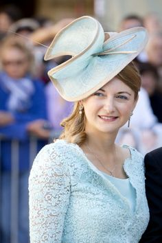 Hereditary Grand Duchess Stephanie, September 21, 2013   The Royal Hats Blog...Hereditary Grand Duchess Stephanie at the Wedding of Prince Felix of Luxembourg and Claire Lademacher.