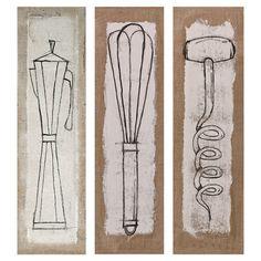 Mangia Canvas Print (Set of 3)
