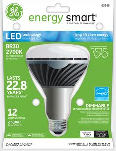 GE Energy Smart 65W Replacement (12W) BR30 LED Bulb (Warm, Dim, Energy Star) $45.95