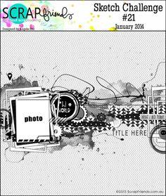 ScrapFriends - All about Scrapbooking: Sketch Challenge #21