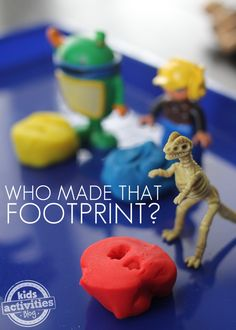 Who Made That Footprint?  Super simple and cute game to play with preschoolers