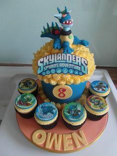 Skylanders Giants Cupcake Cake! TJ!