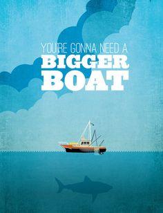 Jaws - Classic Movie Print. $19.99, via Etsy. - Turner Pediatric Dentistry | #Acworth | #GA | www.turnerpediatricdentistry.com