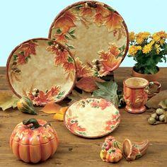 Thanksgiving Dinnerware On Pinterest