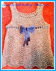 feather and fan summer top knitting pattern