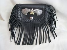 Double Eagle Fringe Bag  -  Slides on a belt and sized for a small concealed carry