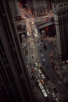 Michigan Avenue and the Chicago River