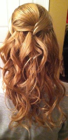 Half up, bride hair, curls