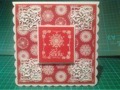Christmas Card using Spellbinders cut,fold & tuck die
