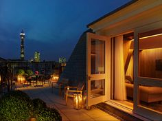 Room with a view (and a deck) at Ian Schrager's new London Edition hotel.