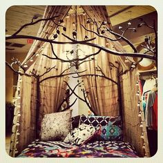 i'm sucha bohomo! design homes, bed frames, dream, canopy beds, living room designs, boho bedroom, tree branches, canopi bed, forest bedroom