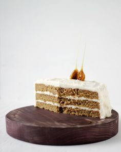 Carrot cake & cream cheese frosting with OMG 3 sticks of butter!