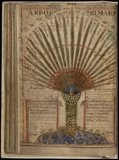from the fabled manuscript, 'Liber Floridus' (Book of Flowers), a Medieval encyclopædia produced some 900 years ago by Lambert, Canon of St Omer, in the NE France/Flanders/Belgium region.