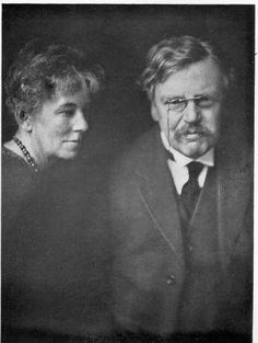 G. K. Chesterton and his wife Frances