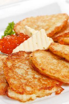 Leftover Mashed Potato Pancakes  -  adjust prn.    lj