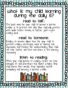 daily 5 for parents